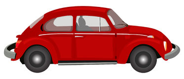 Red Volkswagon. A  illustration of a red Volkswagon Royalty Free Stock Photography