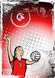 Red volleyball background Stock Image