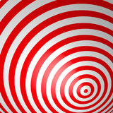 Red volumetric striped background. Concentric circles. Red and white spiral wallpaper. Not trimmed, edges under the mask. Vector illustration Royalty Free Stock Photo