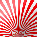 Red volumetric striped background. Cone. Red and white perspective spiral wallpaper. Funnel. Not trimmed, edges under. The mask. Vector illustration Stock Photos