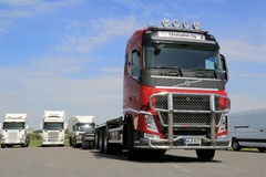 Red Volvo FH Truck and Blue Sky Royalty Free Stock Image