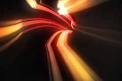 Red vortex with orange light Stock Photo
