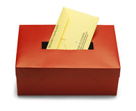 Red Voting Box Stock Photography