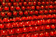 Red Votive Candles Stock Images