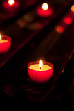 Red votive candles Stock Photography