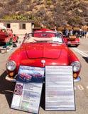 Red 1964 VW Karmann Ghia Stock Images
