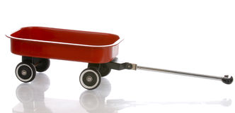 Red wagon Stock Images