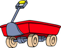 Red wagon Royalty Free Stock Image
