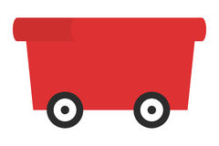 Red wagon icon Royalty Free Stock Images