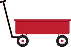 Red Wagon Stock Photo