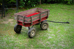 Red wagon small size stock photo