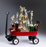 Red Wagon of Trophy& x27;s. Stock Image