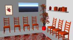 Red waiting room Royalty Free Stock Photo