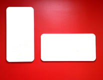 Red wal billboard Royalty Free Stock Images