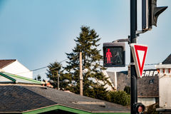 red walk light signal Stock Photo