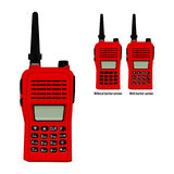 Red walkie-talkie vector illustration