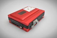 Red Walkman Royalty Free Stock Images
