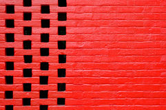 Red wall. Chiang mai university Royalty Free Stock Photos