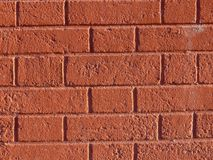 Red wall. From the  rectangular brick Royalty Free Stock Image