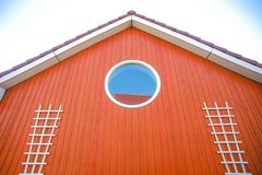 The red wall of beautiful house Royalty Free Stock Photography