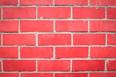 Red wall of red blocks stock photos