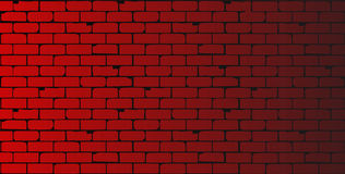 Red Wall. A red brick wall as a background with shadow section stock illustration