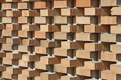 Red wall bricks arranged orthogonally Royalty Free Stock Image