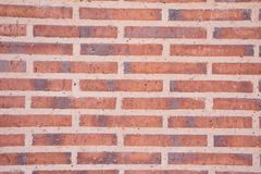 Red wall of bricks stock photo