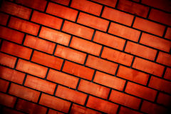 Red wall with bricwork Stock Photos