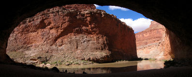 Red Wall Cavern. Panorama of Red Wall Cavern, Grand Canyon of the Colorado River National Park, Arizona Stock Image