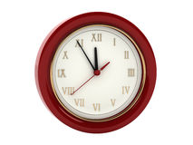 Red wall clock Stock Photography