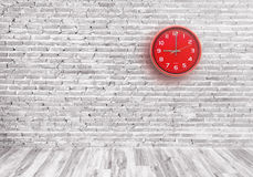 Red wall clock Stock Images