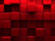 Red Wall Cube Blocks Background Stock Photography