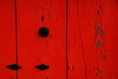 Red wall detail Stock Images