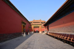 The red wall in the Imperial Palace Royalty Free Stock Images
