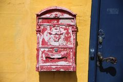 Red, Wall, Letter Box, Art royalty free stock photos
