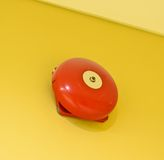 Red wall mounted Fire Alarm Bell Stock Image