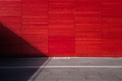 Red Wall Paint Royalty Free Stock Photo