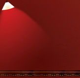Red Wall Scrapbook / Album Background. Mexican inspired theme.  A red painted wall with a light shining on it and a tile border across the bottom.  Very useful Royalty Free Stock Image