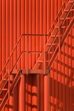 Red wall and staircase Stock Photos