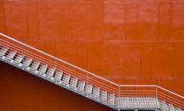 Red wall and stairs Royalty Free Stock Photography