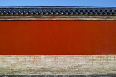 Red wall in Temple of Heaven Stock Photo