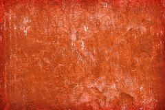Red wall texture. Red, aged wall texture, background stock image