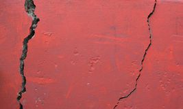 Red wall texture Royalty Free Stock Images