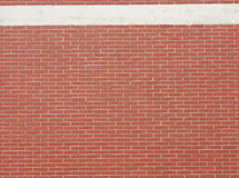 Red wall with white line Royalty Free Stock Images