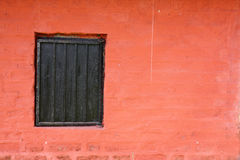Red Wall Window Royalty Free Stock Images