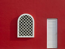 Red Wall with Window Stock Photos