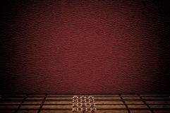 Red wall and wooden floor Royalty Free Stock Photo