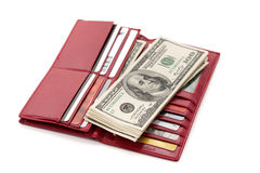 Red Wallet Royalty Free Stock Images