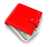 Red wallet Royalty Free Stock Photography